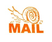 Snail Mail Stamp - Hand Carved Rubber Stamp