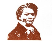 Frederick Douglass Stamp - Hand Carved Rubber Stamp