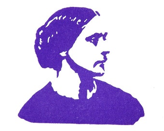 Susan B. Anthony Stamp - Hand Carved Rubber Stamp