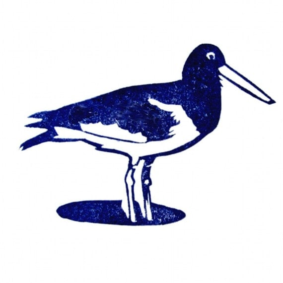 Oystercatcher Rubber Stamp Hand Carved