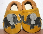 3 to 9 months Elephant Soft Soled Leather Shoes