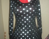 black silver polka dot top reserve for aetha