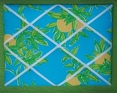 New Memo board made with Lilly Pulitzer 2010 Juice Bar fabric