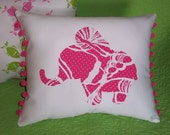 New custom Elephant Pillow MW Lilly Pulitzer King Conch fabric