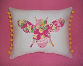 New custom Honey bee Pillow MW Lilly Pulitzer Slathouse Rock fabric