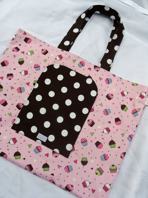 Cupcake Love Reusable and Foldable Shopping Bag
