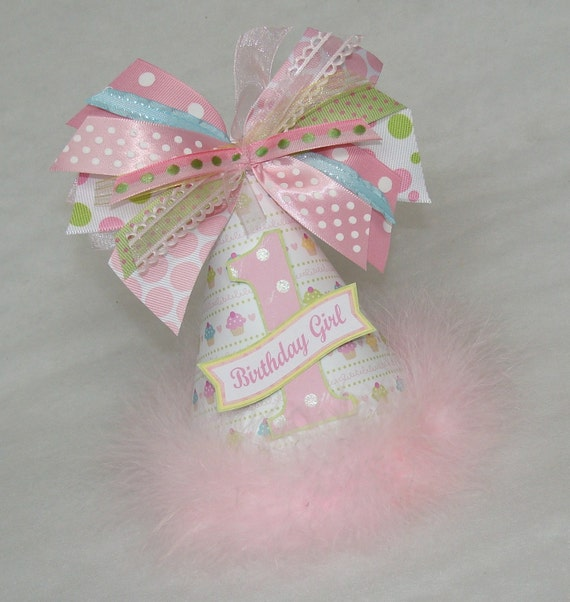 Pink Cupcake Princess Party Hat
