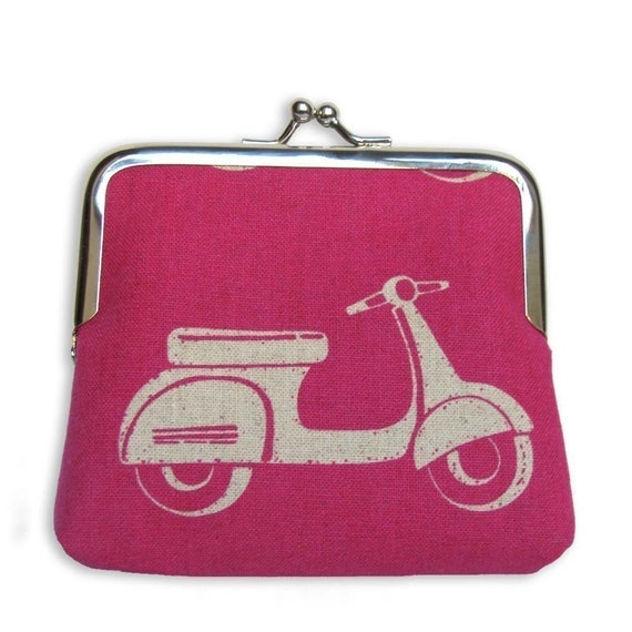 SALE -Vespa Scooter Coin Purse