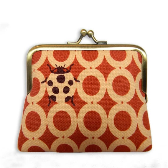 Retro Ladybird Coin Purse