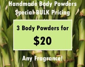 BULK Handmade Hair & Body Powder Special 3pk Pricing - Buy More, Save More - price break, discounted, assorted,no talc,talc-free,dry shampoo
