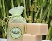 Island Lime Handmade Cold Process Soap Bar, 4oz -coconut,verbena, tropical,lime green,vegan,natural,organic sustainable palm oil,organza bag