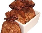 Almond Amaretto Handmade Sachet - cherry, phthalate free, brown organza bag, natural,potpourri, fragrance,aromatherapy,wedding, shower favor