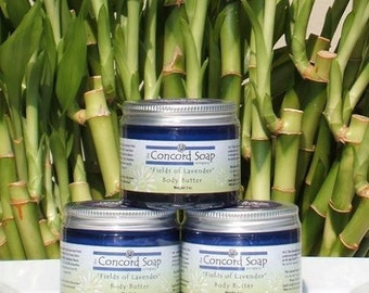 Fields of Lavender Handmade Body Butter 2oz - deep moisturizer, moisturizing, organic shea butter, foot cream, dry hands, scented, floral