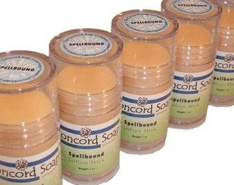 Spellbound Handmade Solid Lotion Stick - lotion bar, lovespell type, citrus, moisturizer, travel, convenient, push-up tube, heel stick