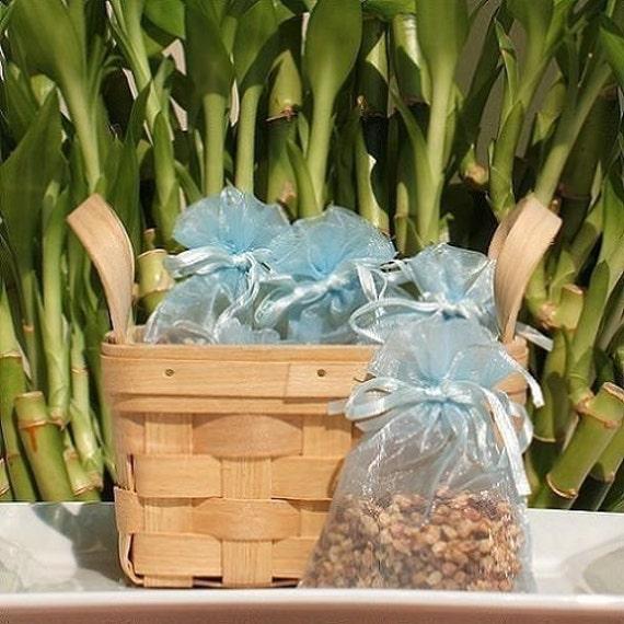 Spellbound Handmade Sachet - lovespell type,citrus,blue organza bag,natural, scented,potpourri, fragrance,aromatherapy, wedding,shower favor