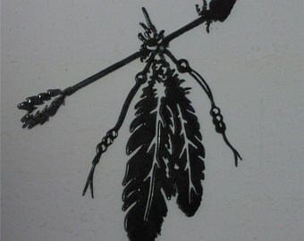 Indian Arrow  - Metal art