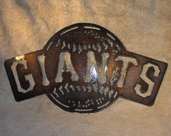 Giants baseball - Metal art