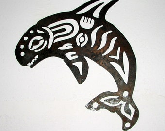 Whale -Indian  - Metal art