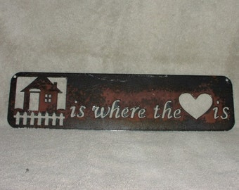 Home is where the Love is  - Metal art