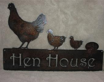 The Hen House  - Metal art