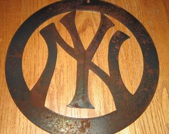 New York Baseball Sports Sign  - Metal art