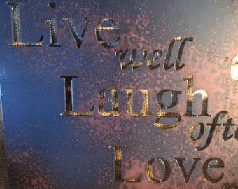 Live Laugh Love Also-Metal Art