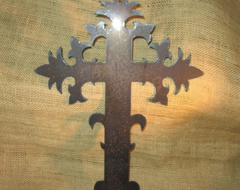 French Cross-Metal Art-Fleur de Lis
