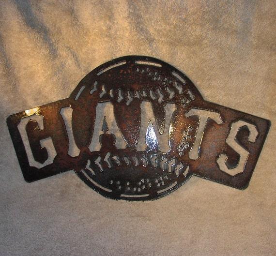 Giants baseball - Metal art