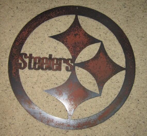 Steelers Football Sign - Custom Wall Art