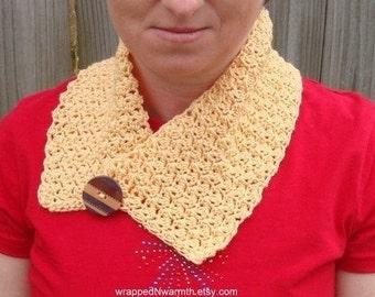 Crocheted Yellow Neck Warmer