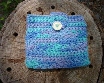 CLEARANCE  Crocheted True Blue Pouch