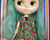 Watermelon Empire Dress for Blythe