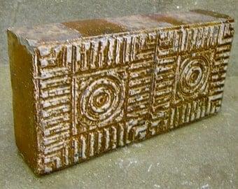 CHICAGO NORTHWESTERN Terra Cottra Glazed Tile  Brick 1920-30s Architectural artifact