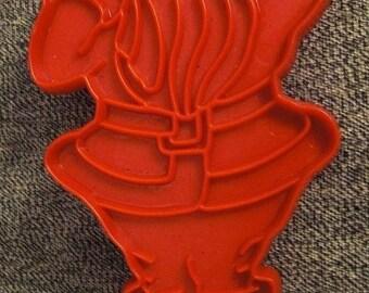 santa COOKIE CUTTER RED Plastic Handle Tupperware
