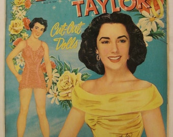 Original Paper DOLLS ELIZABETH Taylor 1950 Whitman  Publishing Racine  WI