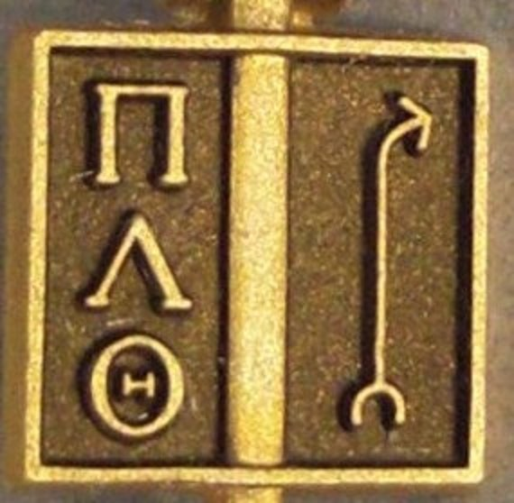 GOLD 8C HONOR Society Pin Pi Lambda Theta Mint In Box