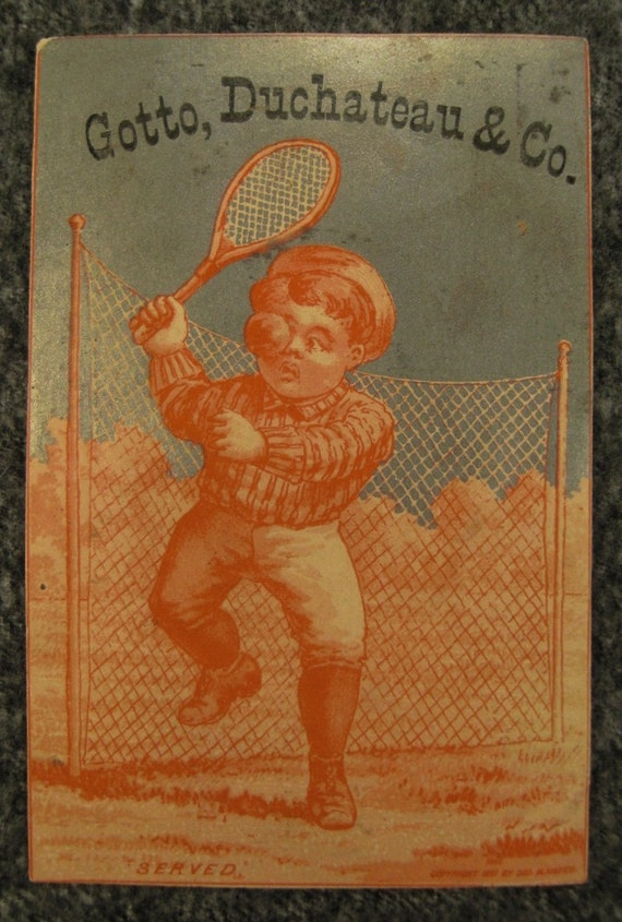 Victorian 1881 BOOTS Trade Card Green Bay WIS TENNIS