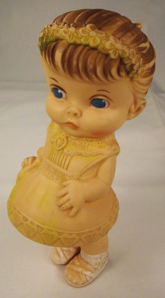 Doll Plastic Squeek Toy The Edward Mobley Co Signed 1958