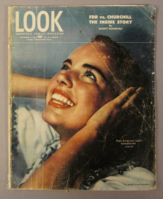 LOOK Magazine Sept. 3 1946 10c FDR vc CHURCHCHILL A merican look Movie Posters
