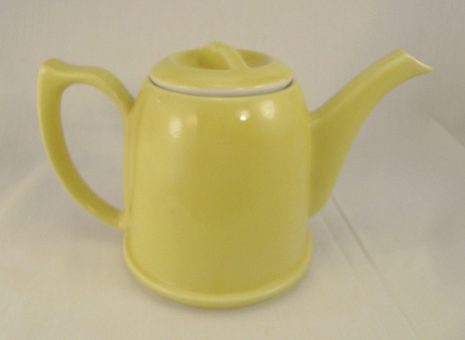 Hall Teapot Eames Era Moderne Pottery 1950s Signed Number