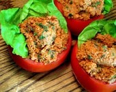 Stuffed Garden Tomatoes with Walnut Herb Pate by Raw Food Chef Christina Chadney