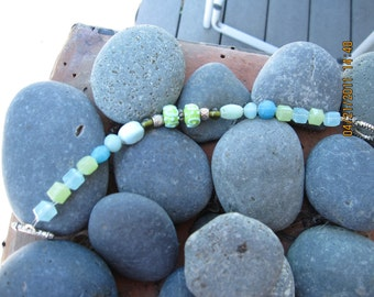 Green and Turquoise bead bracelet
