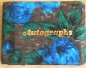 Vintage 70s Zippered Autograph Book