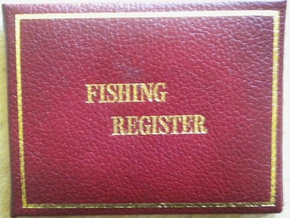 Vintage 70s Pocket Fishing Register - Never Used