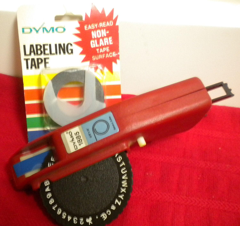 Vintage Dymo 1885 Label Maker And Label Tape