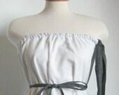 Womens Modern Pillowcase Dress / Tunic Tube Top. Eco Fashion.
