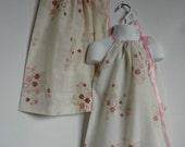 Big Sister Little Sister. Sisters. Matching Dresses. Matching Twin Dresses. Twin Sisters. Pillowcase Dresses.  Kids Dresses. Hearts Flowers