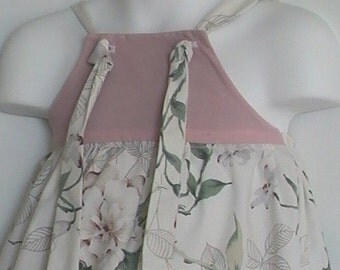 Toddler Girl Upcycled Clothing. Forget Me Knot Upcycled Dress. Lavender Rose. Size 24 Month to 2T