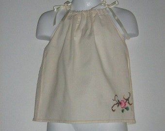 Preemie Pillowcase Dress Baby. Preemie Size Newborn, 6 Month, 8 Month, 12 Month. Length 13.5 inches