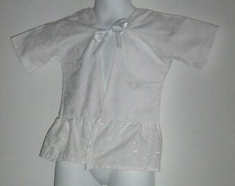 Baby Jacket. Upcycled Baby Girl Clothing. Eyelet Kimono Jacket / Cardigan. Delicate Grace. Size Large. 18 Months.